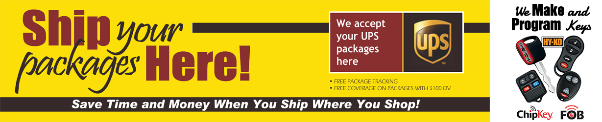 Ship Your UPS Packages Here!